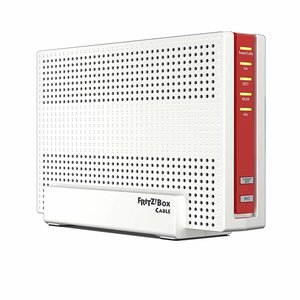 AVM Fritz!Box 6591 Cable WLAN AC + N Router (DOCSIS-3.1-Kabelmodem, Dual-WLAN Ac+N (MU-MIMO) mit 1.733 (5 GHz) + 800 Mbit-S (2, 4 GHz), VoIP-Telefonanlage)