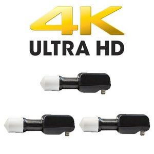 3x Megasat Multifeed Single LNB 0.1 db 4K UHD tauglich