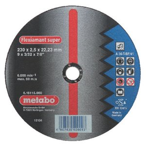 Metabo Flexiamant Super Stahl A 36-T 125 x 2 x 22,23 mm