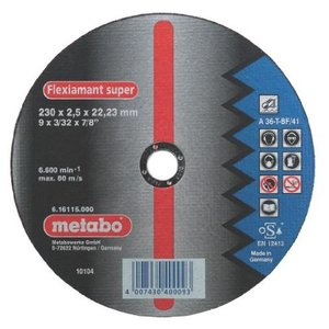 Metabo Flexiamant Super Stahl A 36-T 180 x 2 x 22,23 mm