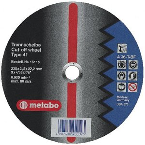Metabo Flexiamant Super Stahl A 36-T 230 x 2,5 x 22,23 mm