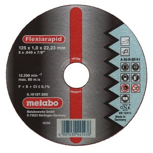 Metabo Flexiarapid Inox A 46-R 180 x 1,6 x 22,23 mm