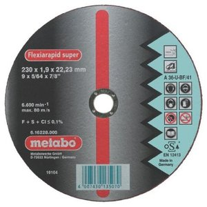 Metabo Flexiarapid Super Inox A 46-U 125 x 1,6 x 22,23 mm