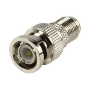 Valueline FC-022PROF F-Connector Female BNC Male Silber (FC-022PROF)