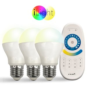 s.LUCE Starter-Set 3x E27 iLight LED + Fernbedienung