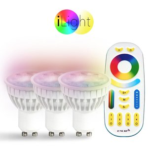 s.LUCE Starter-Set 3x GU10 iLight LED + Fernbedienung RGBW