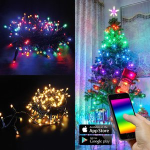 App-Gesteuerte LED-Mini-Lichterkette 28m 240-flg. Bunt & Warmweiß