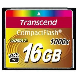 Transcend CompactFlash Card 1000x 16GB (TS16GCF1000)