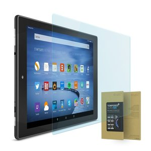 doupi Amazon Fire HD10 ( 2015 ) Panzerfolie, Premium 9H Hartglas HD Display Schutz Glasfolie