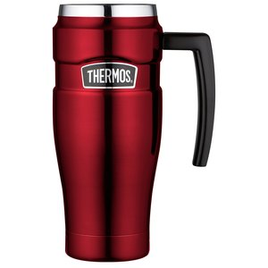 Thermos King Thermobecher Edelstahl 470ml, Cranberry Red, 0,47 l