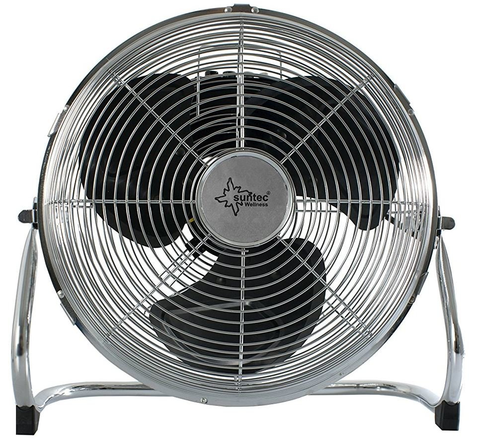 Bodenventilator CoolBreeze 19 BV - Leise 19 cm, 19 Watt  Boden  Ventilator 19 Stufen, Tragbar  Windmaschine Fan Metall Chrom  Perfekt für