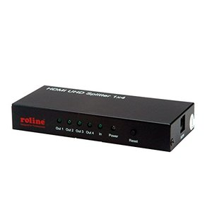 ROLINE 14013586 HDMI Video-Splitter, 4K, 4fach schwarz