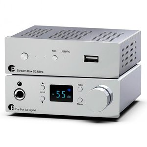 Pro-Ject DAC & Streaming Set S2 Chrome silber