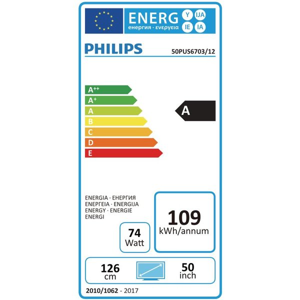 Philips 50PUS6703 50 Zoll Ultra HD LCD-Technologie