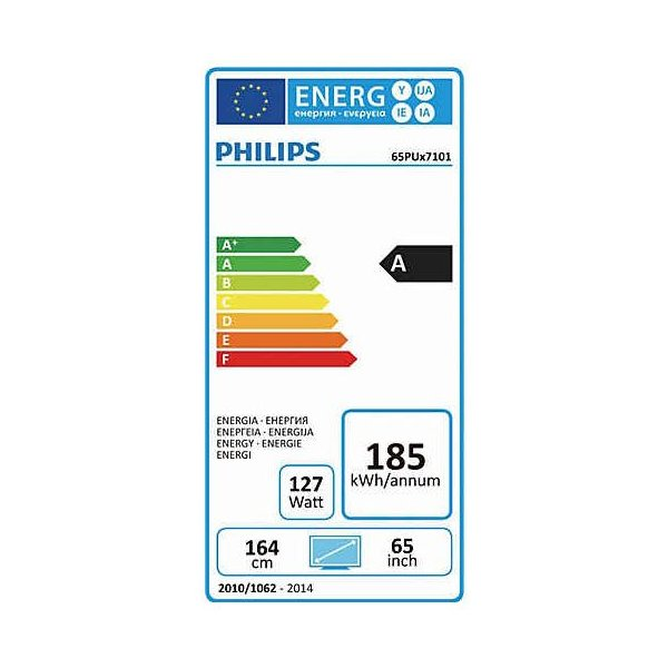 Philips 65PUS7101/12 65 Zoll Ultra HD LCD-Technologie 2016