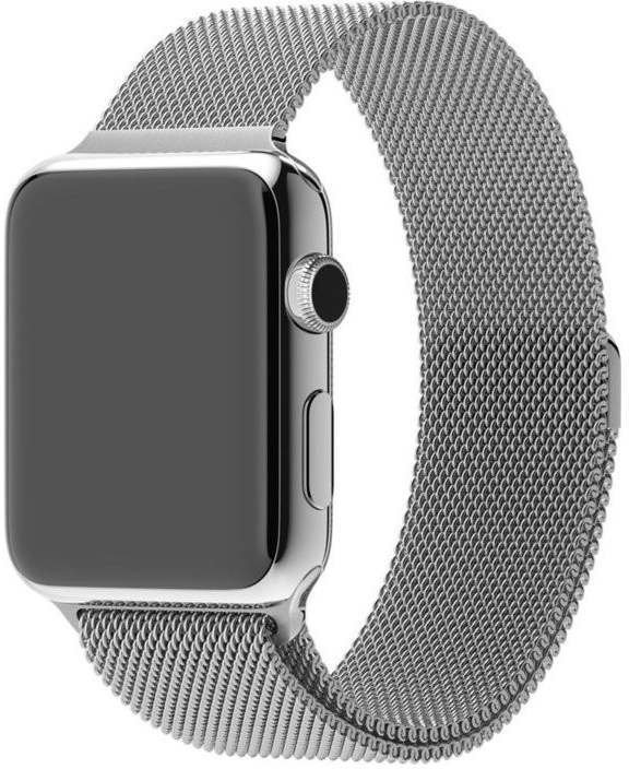apple watch 42mm mit milanaise armband silber test. Black Bedroom Furniture Sets. Home Design Ideas