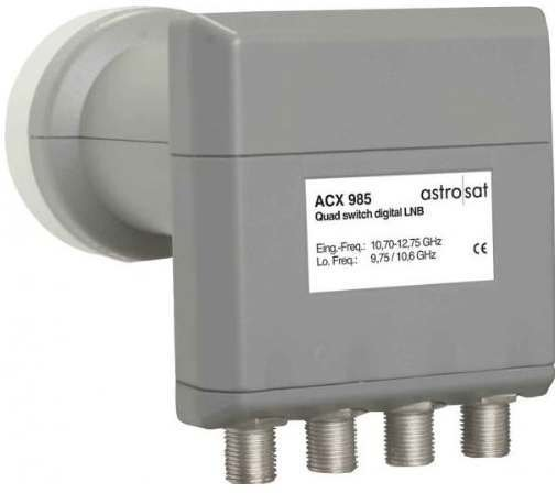 astro acx 985 quattro switch lnb test sat lnb. Black Bedroom Furniture Sets. Home Design Ideas