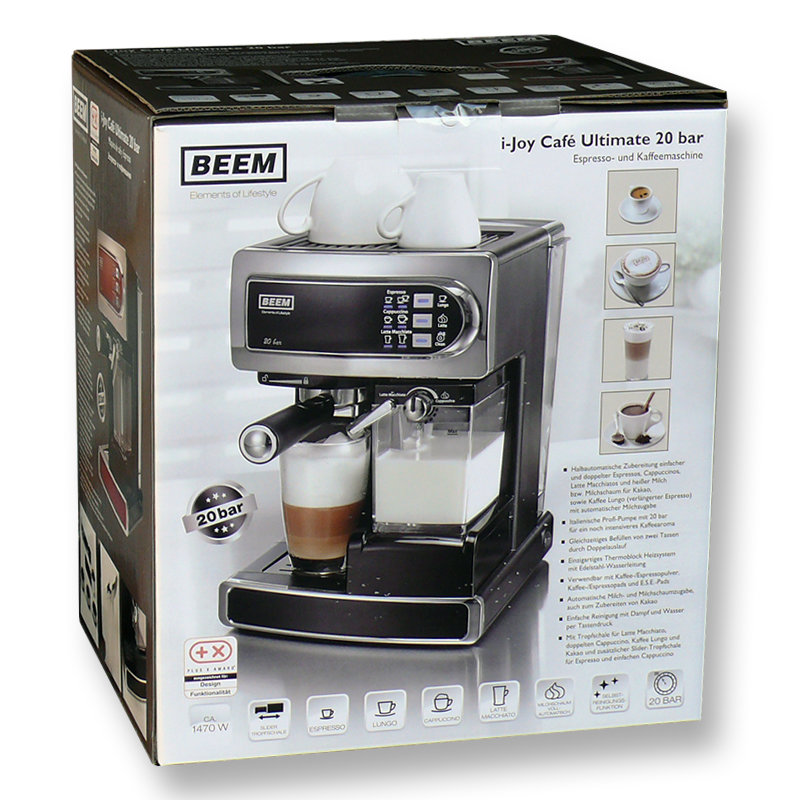 beem i joy cafe ultimate test espressomaschine. Black Bedroom Furniture Sets. Home Design Ideas