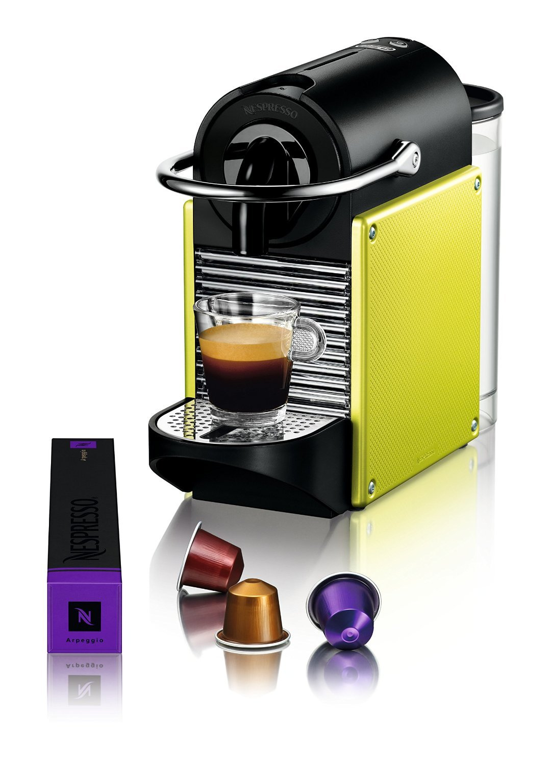 delonghi en 125 l nespresso pixie electric lime test kaffeekapselmaschine. Black Bedroom Furniture Sets. Home Design Ideas