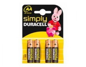 duracell mn 1500 simply mignon batterien 4 st ck g nstig. Black Bedroom Furniture Sets. Home Design Ideas