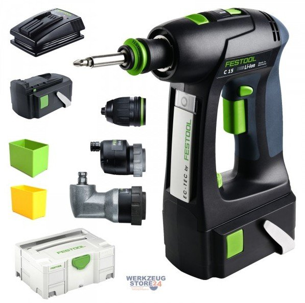 festool c 15 li 3 0 set mit systainer sys 2 tl 564435 test akkuschrauber. Black Bedroom Furniture Sets. Home Design Ideas