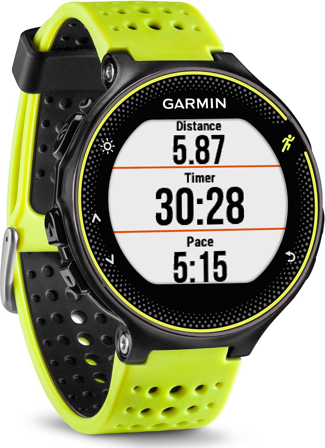 garmin forerunner 230 schwarz gelb test pulsmesser. Black Bedroom Furniture Sets. Home Design Ideas