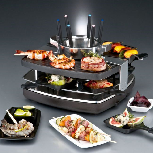 gastroback design raclette fondue set test fun cooking. Black Bedroom Furniture Sets. Home Design Ideas