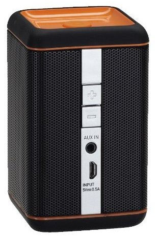 grundig gsb 110 schwarz orange test bluetooth lautsprecher. Black Bedroom Furniture Sets. Home Design Ideas