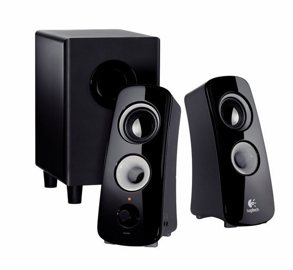 logitech z323 2 1 speaker system test pc lautsprecher. Black Bedroom Furniture Sets. Home Design Ideas