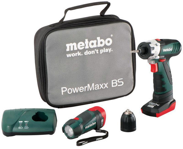 metabo powermaxx bs basic mit 2 akkus und powermaxx led test akkuschrauber. Black Bedroom Furniture Sets. Home Design Ideas