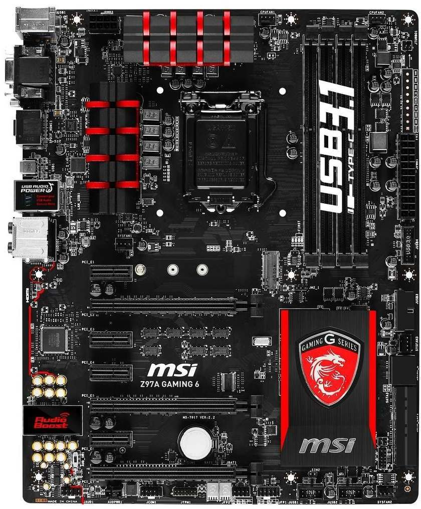 msi z97a gaming 6 7917 002r mainboard auf. Black Bedroom Furniture Sets. Home Design Ideas