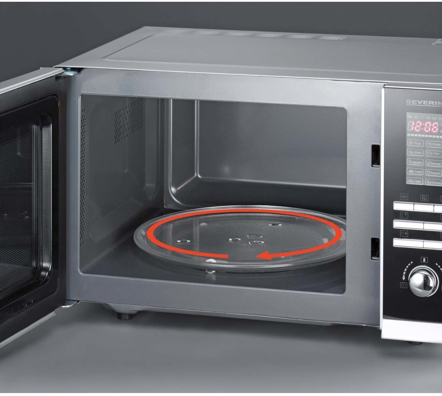 Severin mw 9675 test mikrowelle for Mikrowelle mit grill und backofen