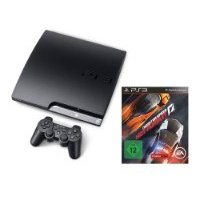 Sony PS3 Slim 160GB + Dual Shock 3 Wireless Controller + Need for Speed: Hot Pursuit Limited Edition
