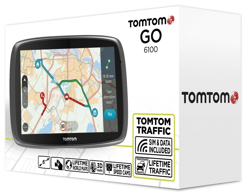 tomtom go 6100 test navigationssystem. Black Bedroom Furniture Sets. Home Design Ideas