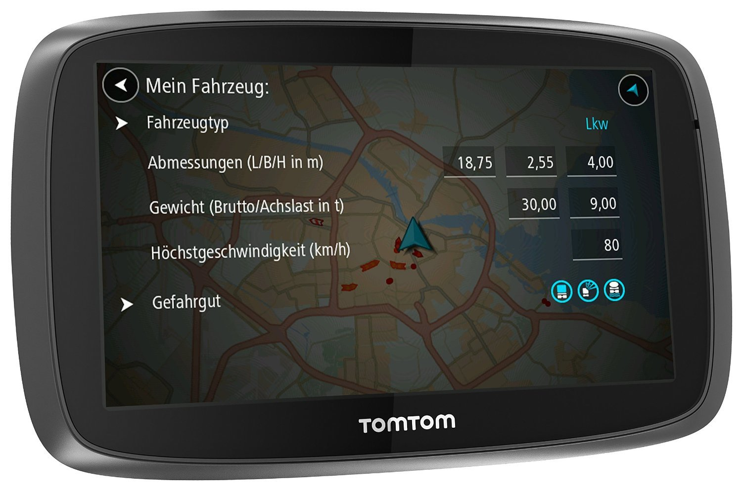 tomtom trucker 6000 test navigationssystem. Black Bedroom Furniture Sets. Home Design Ideas