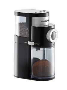 Bei elektronischen Kaffeemühlen wie der Rommelsbacher EKM 200 lässt sich der Mahlgrad bequem einstellen. (Bild: Rommelsbacher)